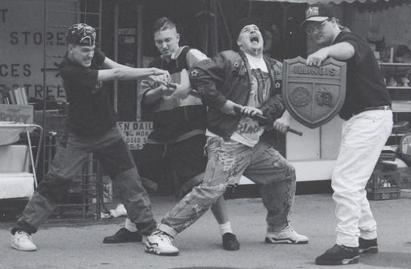 Chaos Kid, M&M, Manix, DJ Buttafingaz (v.l.n.r.)