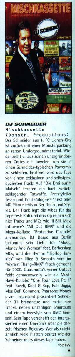 DJ Schneider - Mischkassette Juice Review
