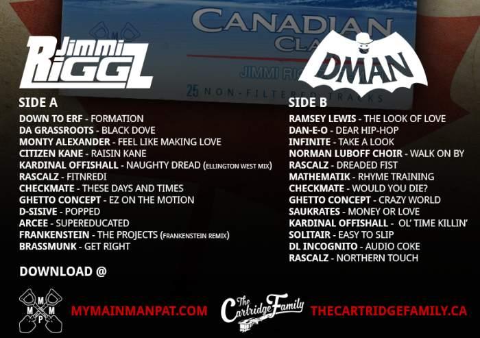 Canadian Classics Mixtape Back